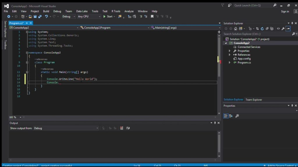 Visual Studio 2017 coding images