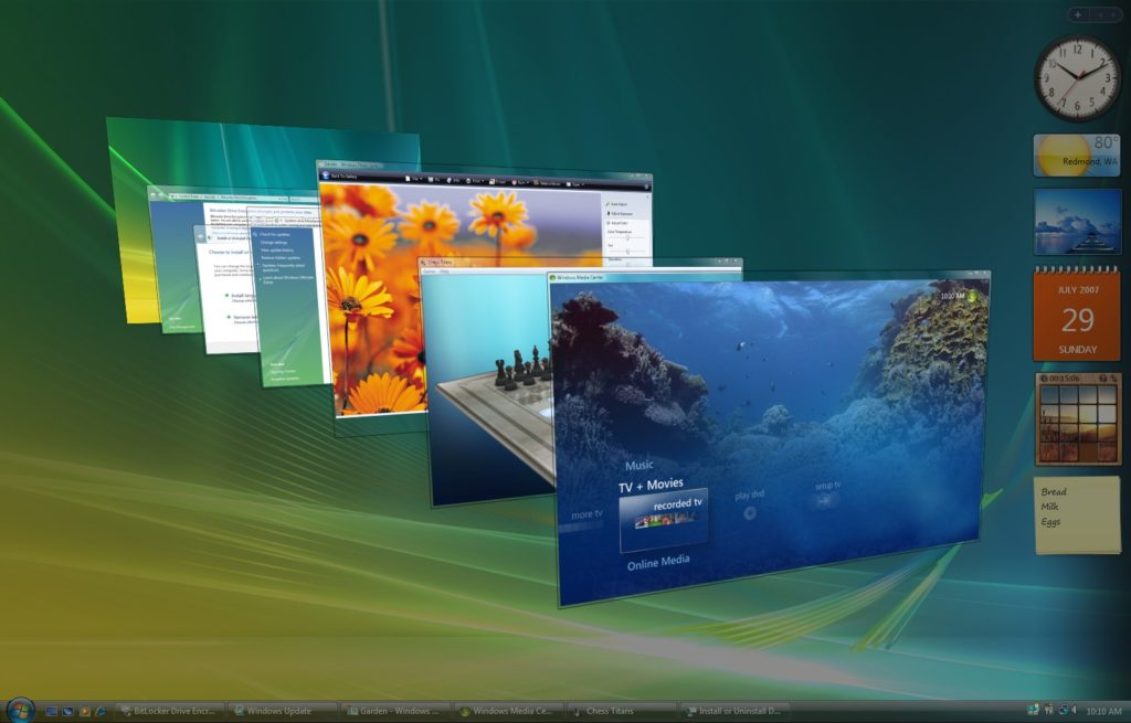 Windows Vista all screens images