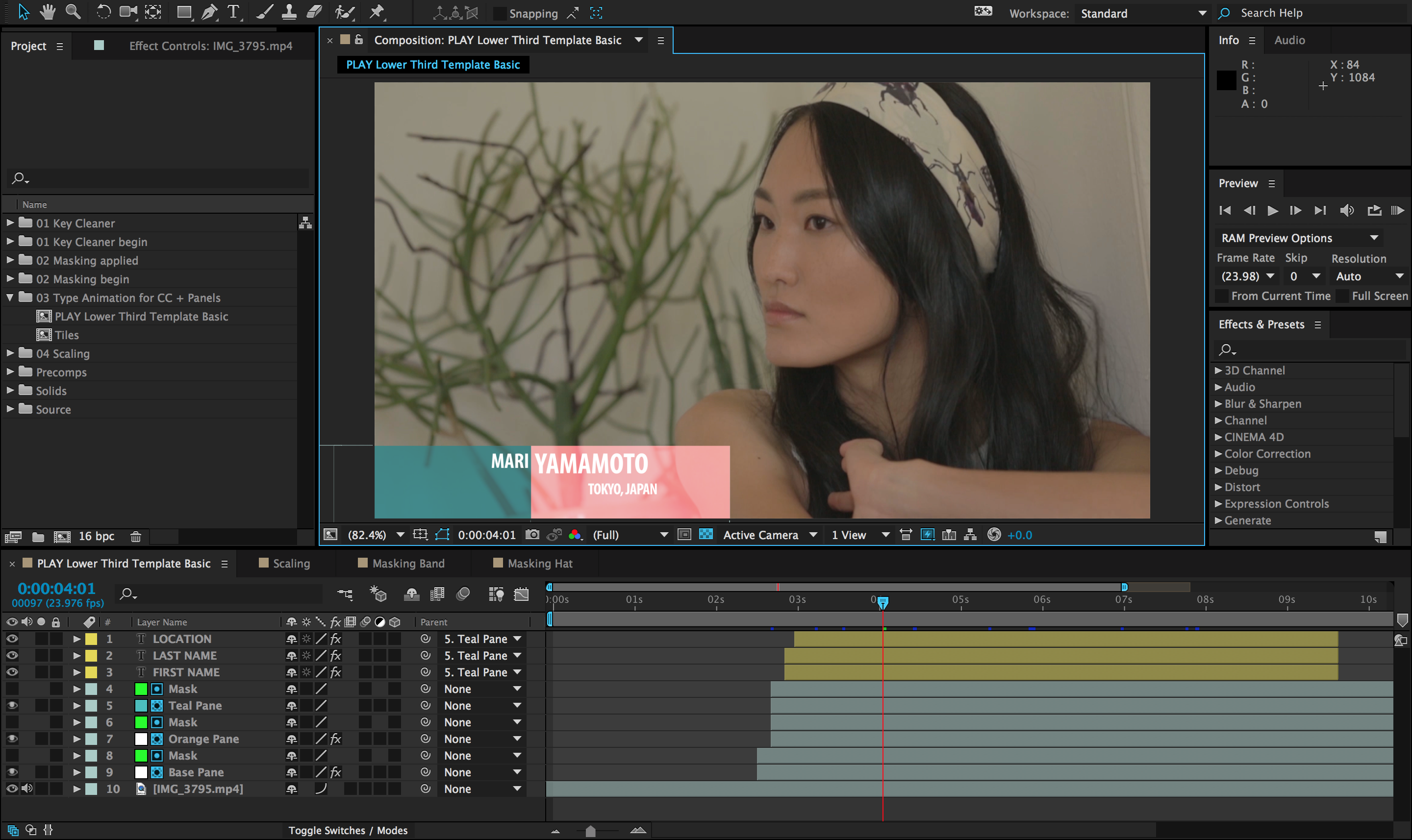 Adobe After Effects CC 2015 female image processing