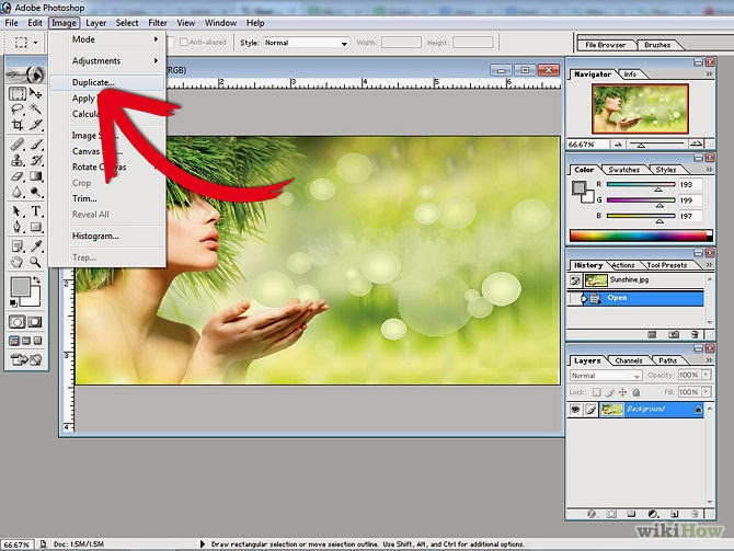 Adobe Photoshop 7.0 image editing part 1