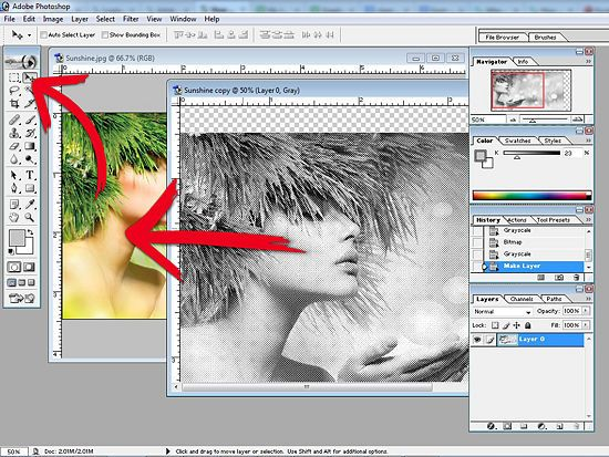 Adobe Photoshop 7.0 image editing part 2
