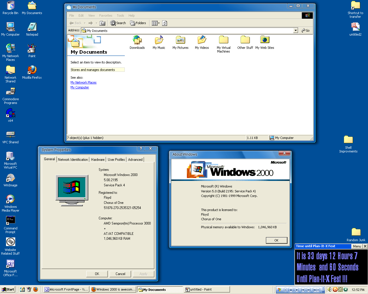 Windows 2000 setting