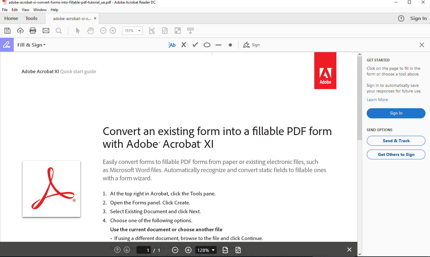 Adobe Acrobat Reader Pro DC 2018 document reading