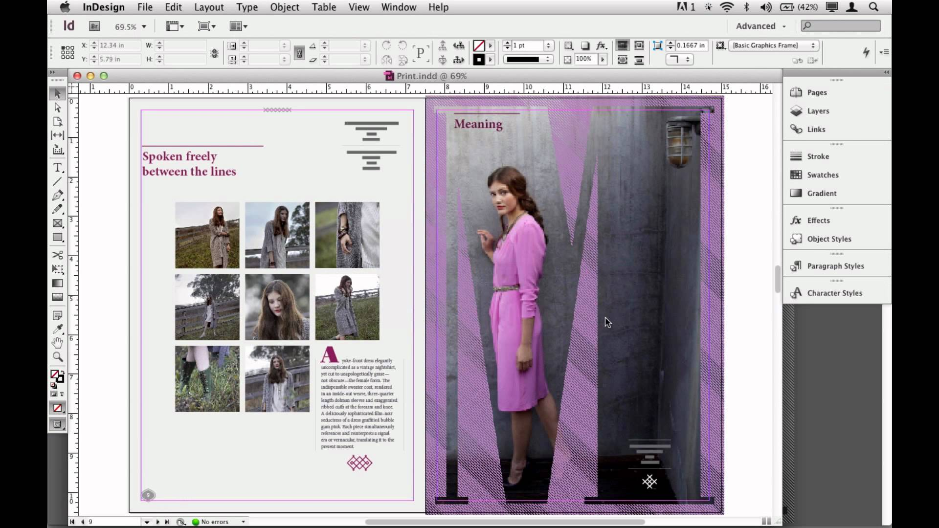 Adobe InDesign CS6 magazine editing
