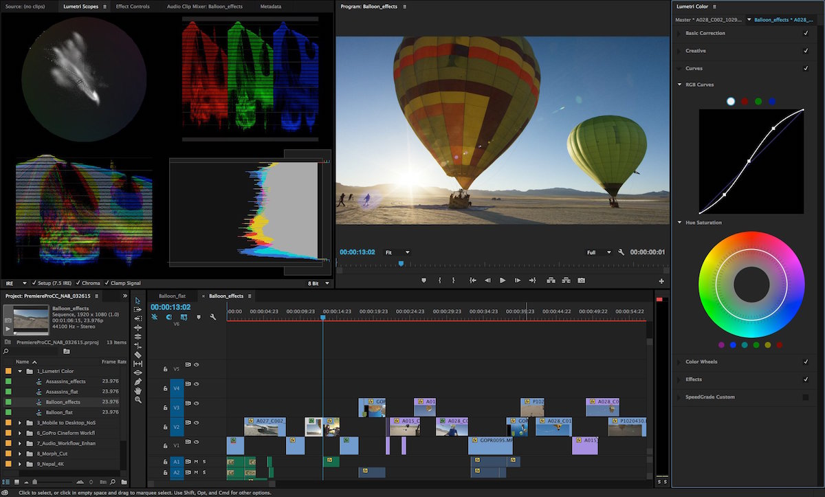 Adobe Premiere Pro CC 2017 baloons editing