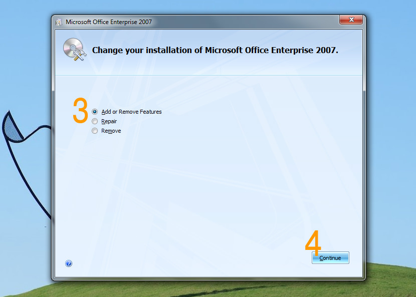 Microsoft Office 2007 Enterprise installation