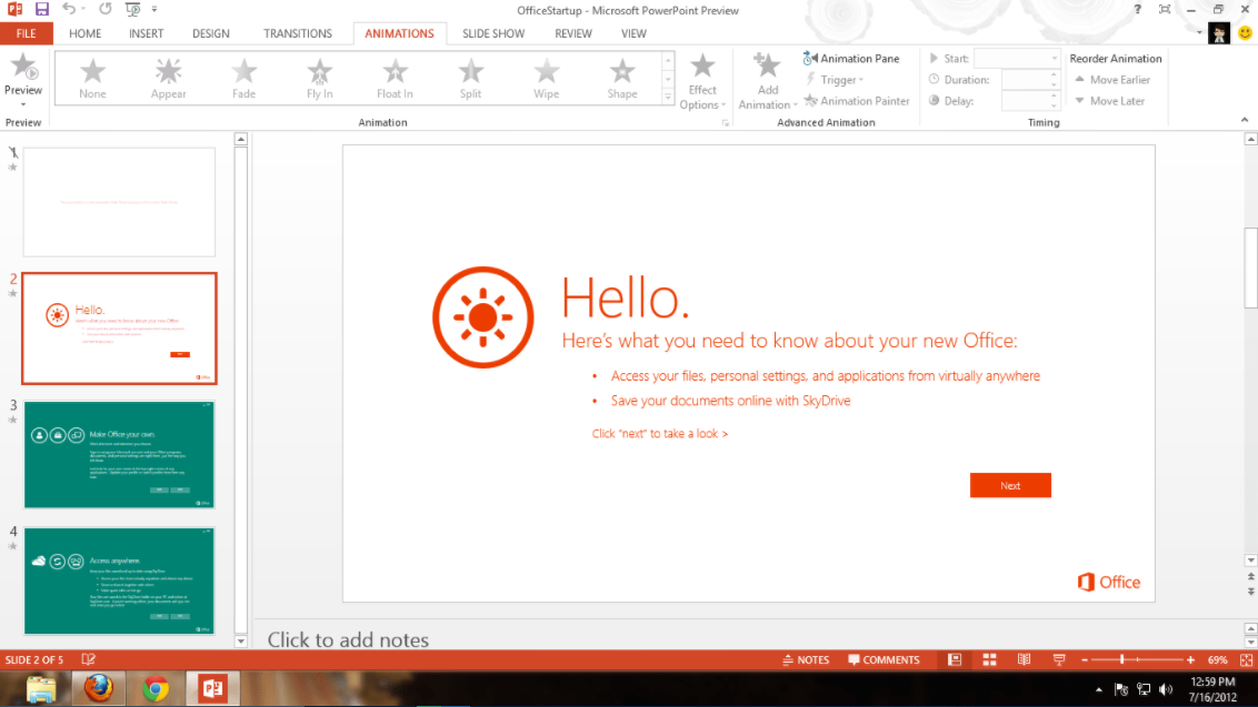 Microsoft Office 2013 Professional Plus powerpoint
