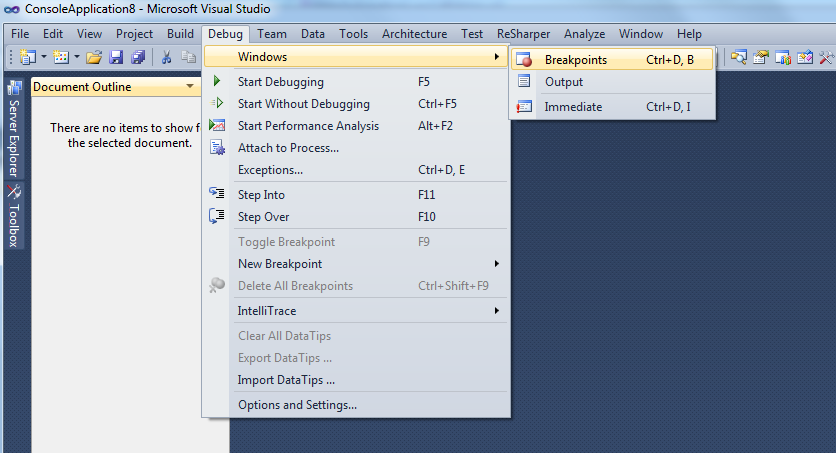 Visual Studio 2010 live debugging