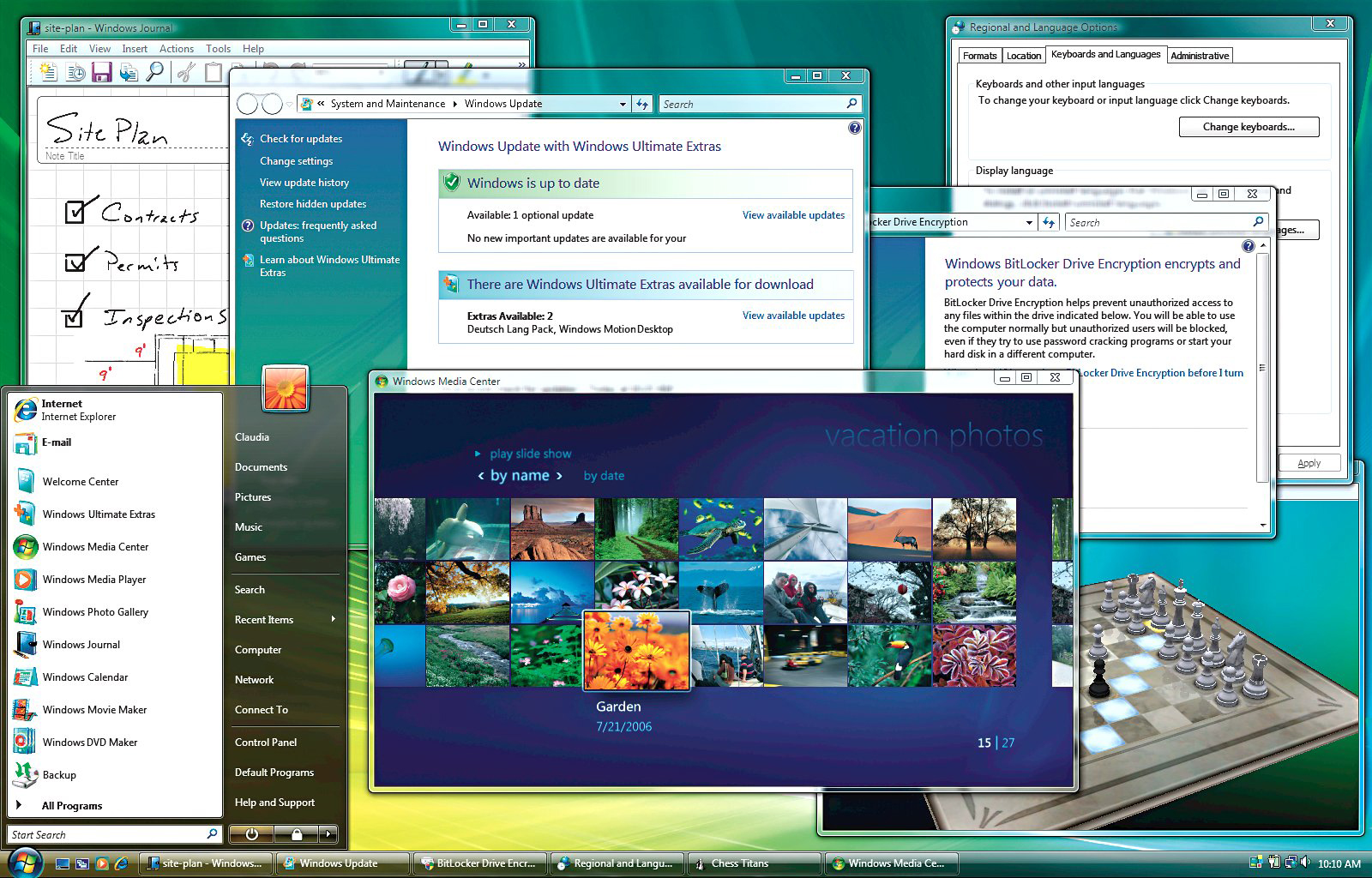 Windows Vista Ultimate desktop