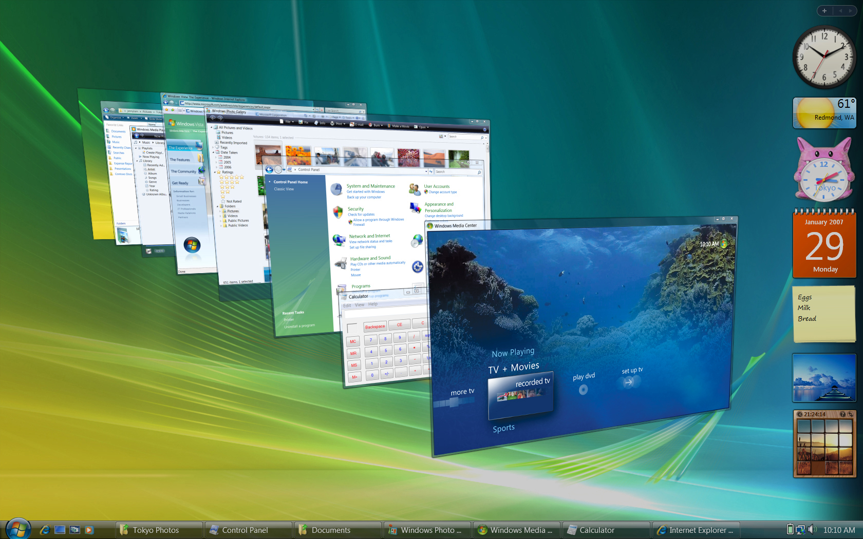 Windows Vista Ultimate workspaces